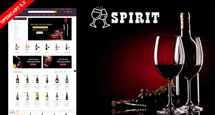 Spirit wine & Drink Ecommrce Opencart Website Template