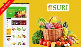 Suri Organic & Grocery Ecommrce Website Temp..