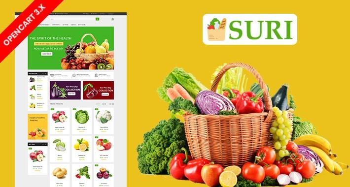 Suri Organic & Grocery Ecommrce Website Template