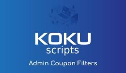 Admin Coupon Filters