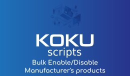 Bulk Enable/Disable Manufacturer's products