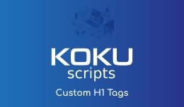 Custom H1 Tags