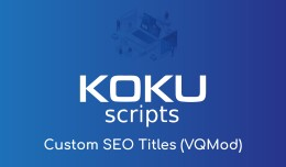 Custom SEO Titles (VQMod)