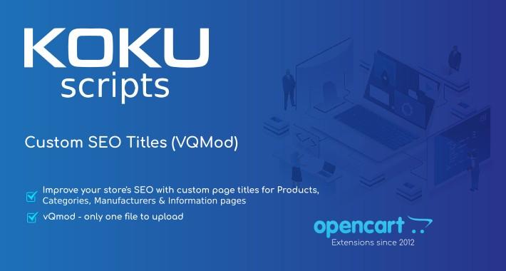 Custom SEO Titles (VQMod)