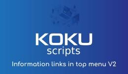Information links in top menu V2