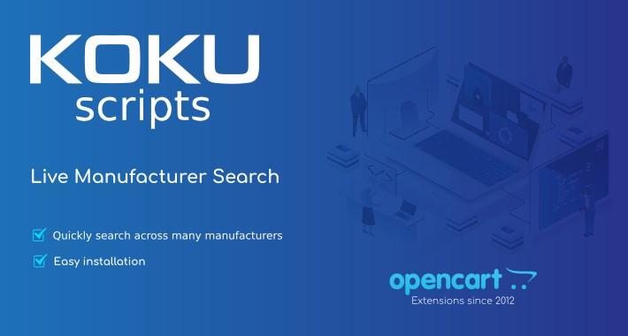 Live Manufacturer Search (admin) - VQMod