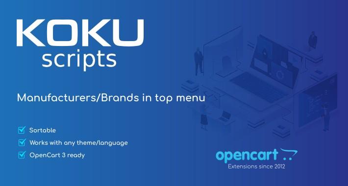 Manufacturers/Brands in top menu