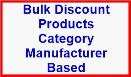 Bulk Discount Products Category Manufacturer Based