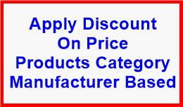 Apply Discount On Price Products Category Manufa..