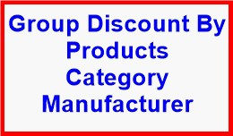 Group Discount By Products Category Manufacturer