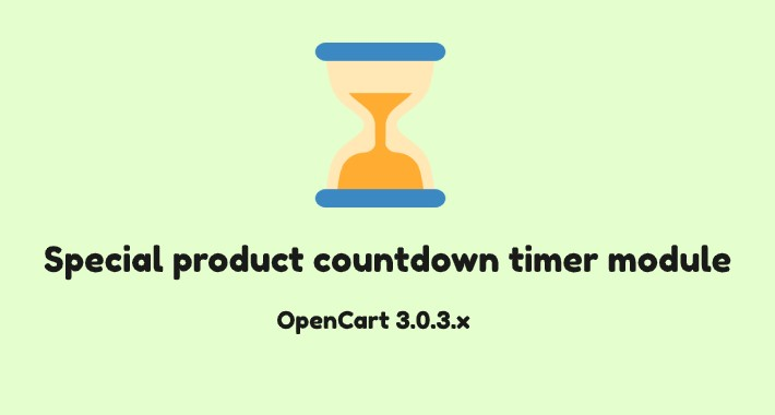 Special Product countdown timer module