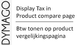 Display Tax on product comparison page