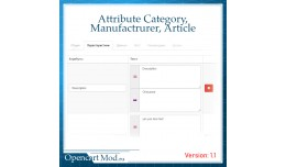 Attributes for categories, manufacturers, and ar..