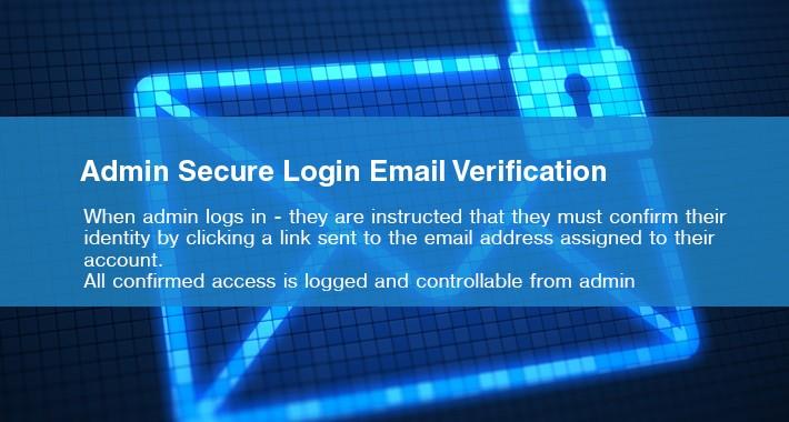 Admin Secure Login Email Verification