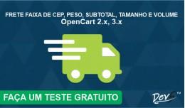 Frete Por Faixa de CEP, Peso, SubTotal, Tamanho ..