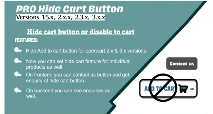 Hide cart button or disable  Add to cart