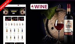 Wine Responsive Opencart Website Template