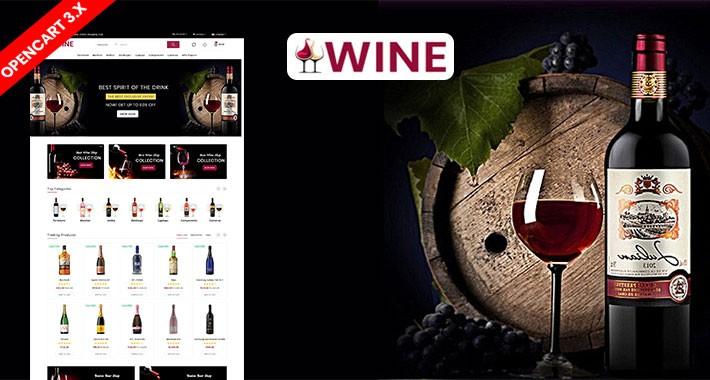 Wine Responsive Opencart Website Template