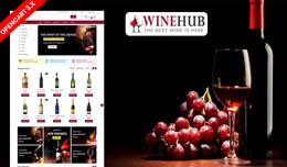 Winehub Opencart Responsive Theme (Bar, Restaura..