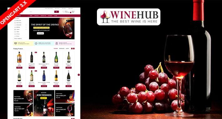 Winehub Opencart Responsive Theme (Bar, Restaurant, Club)