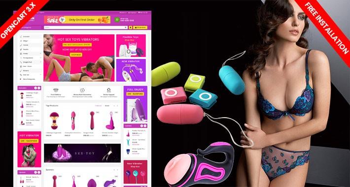 Lv Modern SexToys & Adult Lingeris Ecommrce Website Template