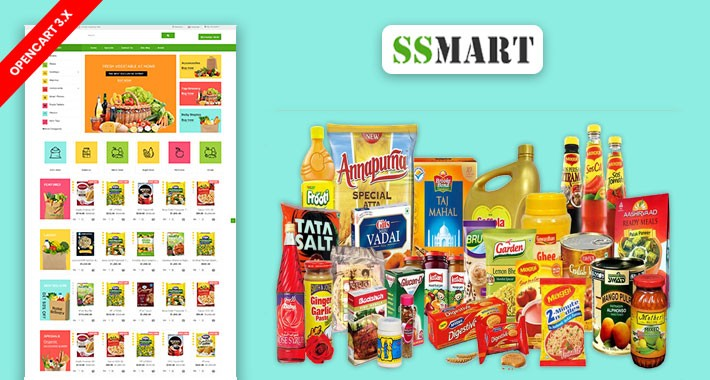 SS Mart Grocery Responsive Online Shopping Template