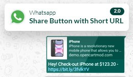 Whatsapp Share button 2.0 | Share your Product S..