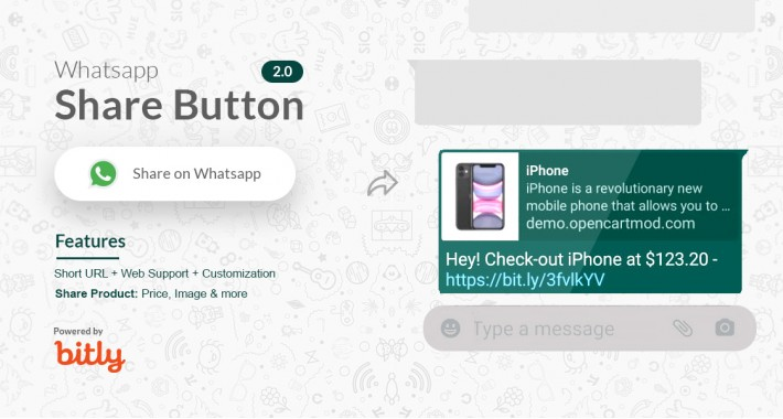 Whatsapp Share button 2.0 | Share your Product Short URL