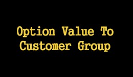 Option Value To Customer Group