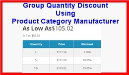 Group Quantity Discount Using Product Category M..