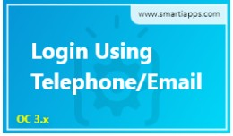 Login Using Telephone Or Email By SmartiApps