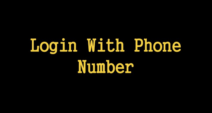 Login With Phone Number