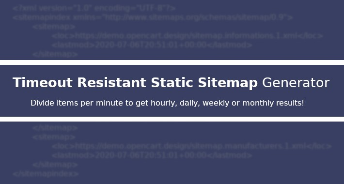 Timeout Resistant Static Sitemap Generator