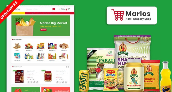 Marlos Grocery OpenCart 3 Multistore Theme