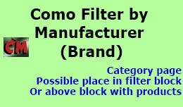 Filter by manufacturer (brand) in category