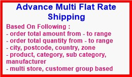Advance Multi Flat Rate Shipping
