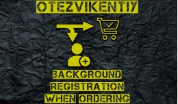 Background registration at checkout