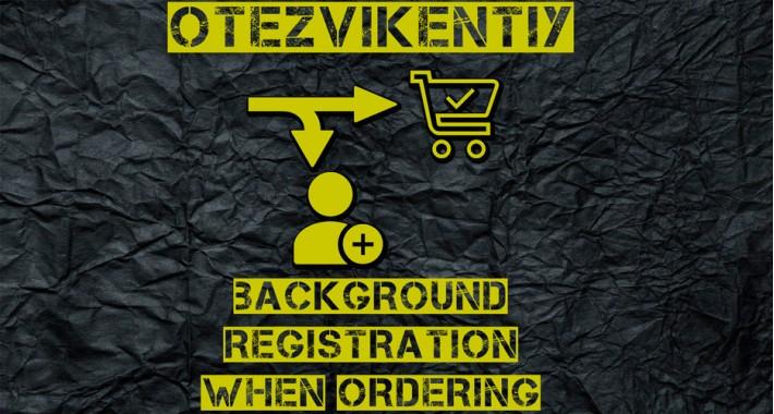 Background registration at checkout