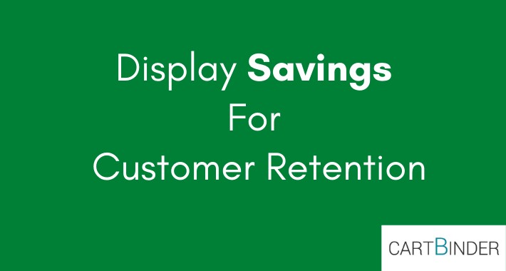Show per product saving in cart/invoice/email customer retention