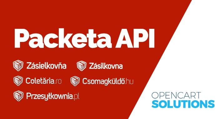 Zásielkovňa API (Packeta API) - Podanie zásielok | OC2.x