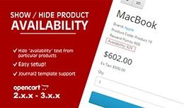 Show / Hide product availability [VQMOD/OCMOD]