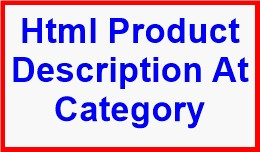 Html Product Description At Category