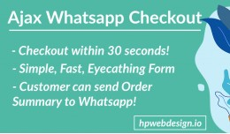 Ajax Whatsapp Checkout (Advanced)