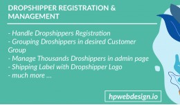 Dropshipping / Dropshipper Management (Free Inst..