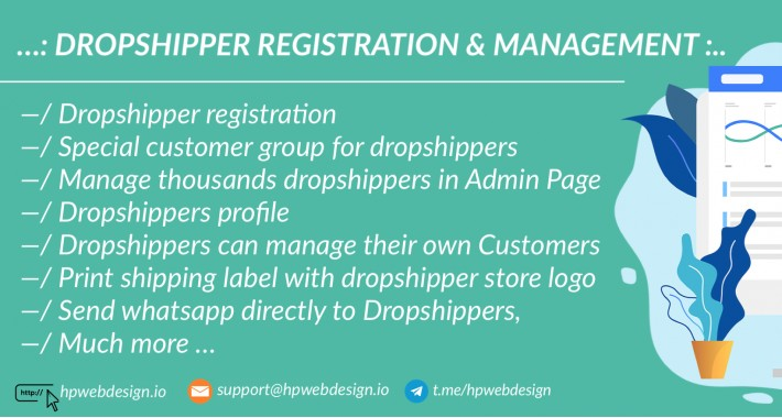 Dropshipping / Dropshipper Management (Free Install)