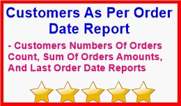 Customers As Per Order Date Report