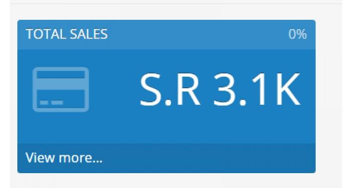 Fix Dashboard Total Sale