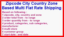 Zipcode City Country Zone Based Multi Flat Rate ..