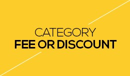 Category Fee or Discount
