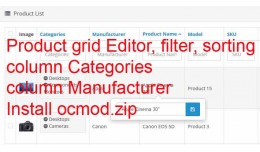 Product Grid inline Editor , filter, sorting, mo..